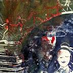 """""""lectures """"- linogravure 27 x 27 cm - 75 €"""