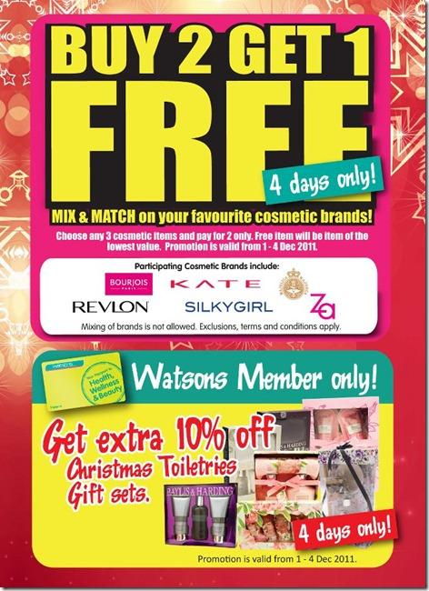 Watsons Kate Cosmetics Revlon Bourjois Silky Girl Majolica Majorca ZA Offers Buy 2 get 1 free