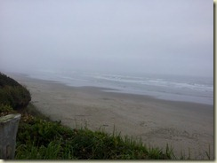 Whaler's Rest beach foggy
