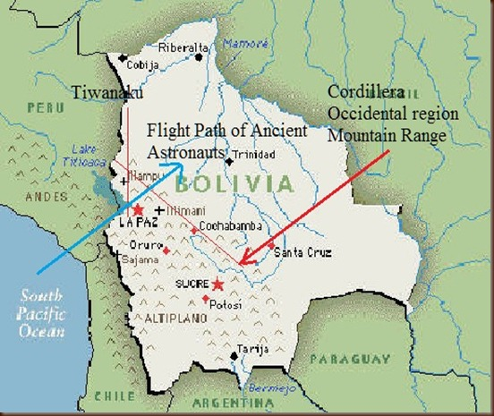 Tiwanaku bolivia geographcal map 2