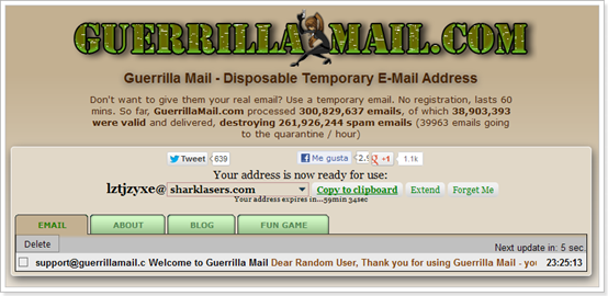 Guerrilla Mail