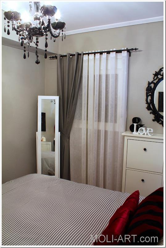 decoración-dormitorio-gris-blanco-negro-magenta-2