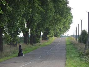 camino a la colina de las cruces