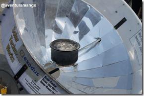 Aquecedor solar parabólico