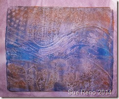 Collograph printing, image 7, by Sue Reno