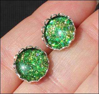 Green Glitter Ohrringe 2 (2)