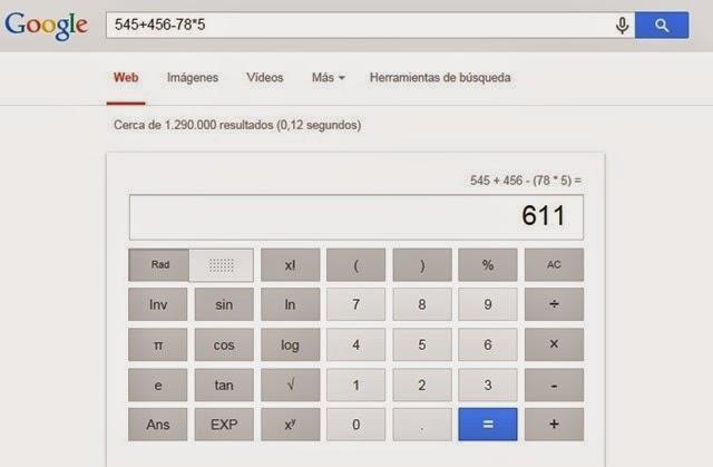 #4. Hacer cálculos y operaciones desde Google