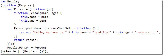 Javascript generado