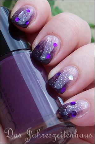 Nageldesign Violetter Sternenhimmel 4