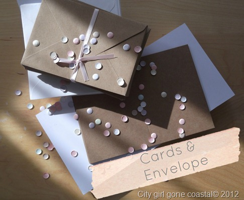 cards and envelope