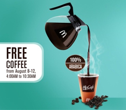 McCAFE Free Coffee eDM Left