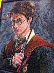 Taking Harry Potter mania to a new level: This huge mosaic was made entirely of Jelly Belly jelly beans.