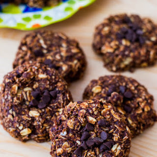 Skinny Chocolate Peanut Butter No Bake Cookies