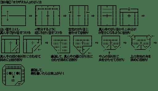 【折り紙】「オカザえもん」の折り方 (ゆるキャラ)