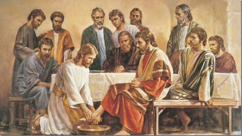 'Last Supper' Jesus Washing The Apostles Feet. John 13.1-20 ESV