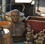 Stalin bust at the Black Market in Ulaanbaator