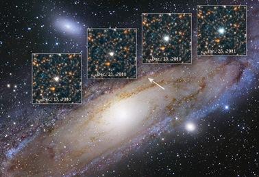 estrela variável cefeida V1 na galáxia M31