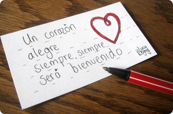 120103 Tue Un corazon alegre siempre sera bienvenido my art