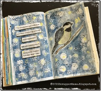 Chickadee Sketch and Paint-Altered Book