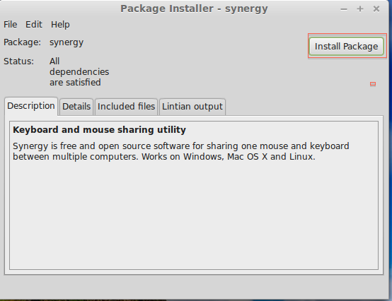 5 package installer of Synergy