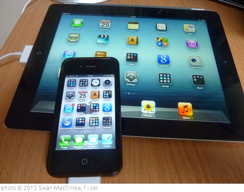 'iPad and iPhone' photo (c) 2012, Sean MacEntee - license: http://creativecommons.org/licenses/by/2.0/