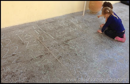 15 ways to use side walk chalk as a teaching tool - create your own hundred's chart - ideas from Raki's Rad Resources