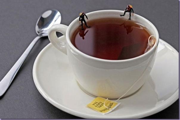 Cenas-Reproduzidas-Miniaturas-Mergulhadores-Xíxara-de-Chá