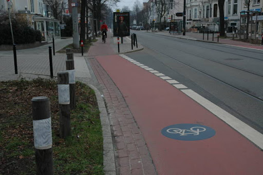 Wachmannstrasse Cycle Path in Bremen, Germany