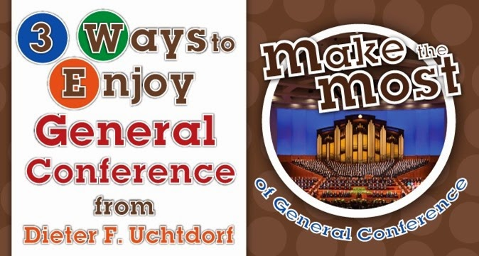 3 Ways to Enjoy General Conference & Make the Most of General Conference M&M Handouts