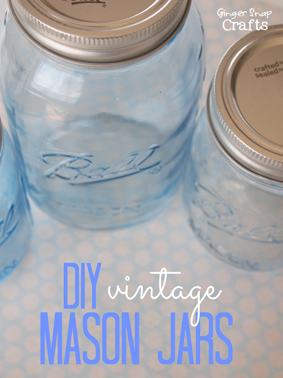 DIY Vintage Mason Jars #decoart #gingersnapcrafts #glasspaint