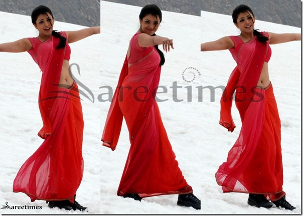 Kajal_Red_Saree
