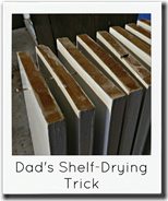 dads shelf drying trick