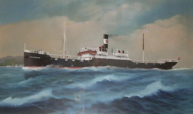 Acuarela del vapor BANDERAS entrando en Genova. Año 1933. Foto remitida por el Sr. Juan Ignacio Ugarte. Nuestro agradecimiento.JPG