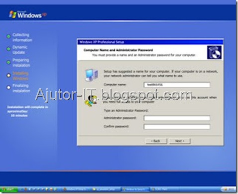 Ghid Instalare Windows XP 10