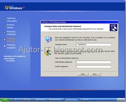 Ghid Instalare Windows XP 10
