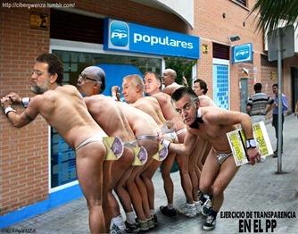 Rajoy sus secuaces y Bárcenas
