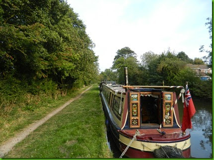 DSCN1314  Quiet mooring at Fradley Bridge on the Coventry Canal