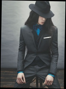 Beautiful dandy outfit with a wide-brimmed hat