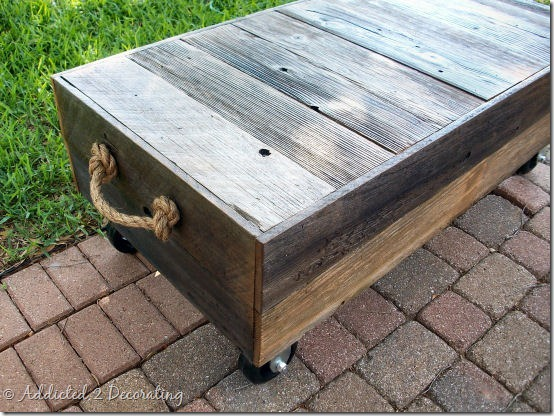 diy factory cart style coffee table 5