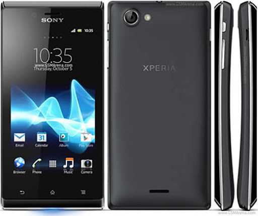 sony xperia j baixo custo tela 4 polegadas android Sony Xperia J Smartphone de Baixo Custo com Android