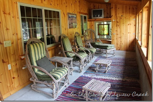 cabin porch willow furniture