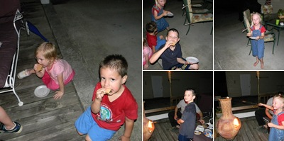 View Kids Making S'mores