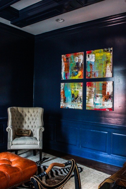 Lindsay Cowles Abstract Painting | Broony Square Quad