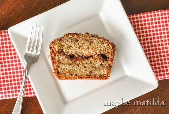 Yummy Cinnamon Swirl Banana Bread recipe