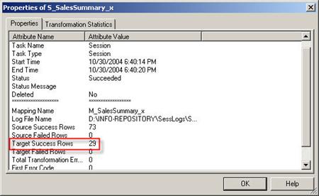 Informatica workflow monitor
