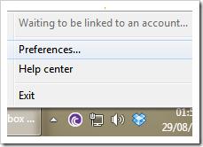 Preferências do Dropbox