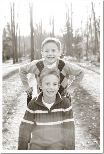 boys on the chair bw