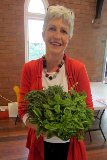 Susie with herbs