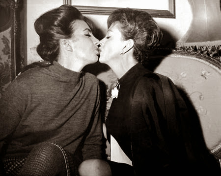Liza Minnelli and Judy Garland