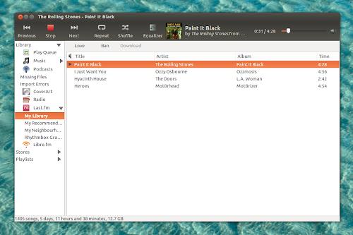 Rhythmbox 2.98 su Ubuntu